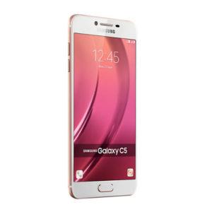 Samsung Galaxy C5 5.2-Inch FHD (4GB,32GB ROM) Android 6.0 Marshmallow, 16MP + 8MP Hybrid Dual SIM 4G Smartphone - Pink Gold
